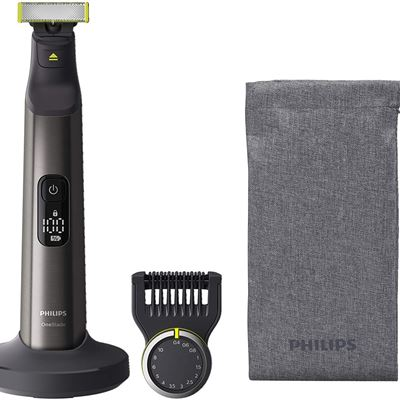 New Philips Oneblade Pro Hybrid Electric trimmer and Shaver, Qp6550/20, 1 Count