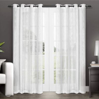 New Exclusive Home Curtains Penny Window Curtain Panel Pair with Grommet Top, 50x96,
