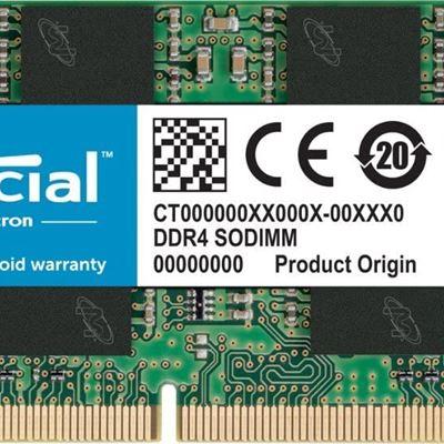 New Crucial CT16G4SFD8266 DDR4 2666 MT / s (PC4-21300) DR x8 260 pin SODIMM 16 GB