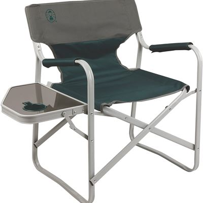 New Coleman Outpost Breeze Portable Folding Deck Chair with Side Table