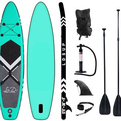 """New Lucear Inflatable Stand Up Paddle Board,10'6�32""""�6"""" Paddle Board, SUP Paddleboard Accessories Backpack, Bottom Fin Paddling Surf Control"""