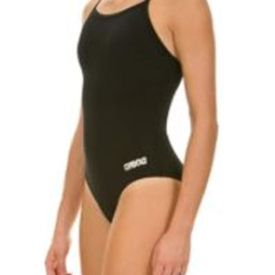 New Arena Women's Master MaxLife Sporty Thin Strap Racer Back One Piece