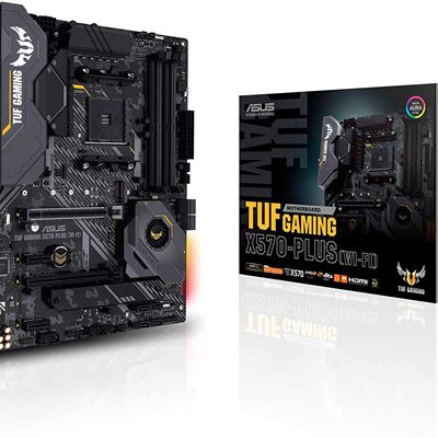 New Asus AM4 TUF Gaming X570-Plus (Wi-Fi) ATX motherboard with PCIe 4.0, dual M.2, 12+2 with Dr. MOS power stage, HDMI