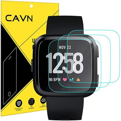 New CAVN 3-Pack Screen Protector Compatible with Versa/Versa Lite (Not for Versa 2), 9H Tempered Glass Screen Protector Compatible Versa 2018