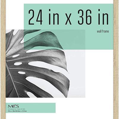 New MCS Industries Studio Gallery Frames, 24x36 in, Natural Woodgrain
