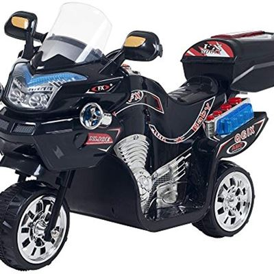 New Lil' Rider 3 Wheel Motorcycle Trike for Kids ? Battery Powered Ride on Toys for Boys and Girls, 2-5 Year Old - Black FX