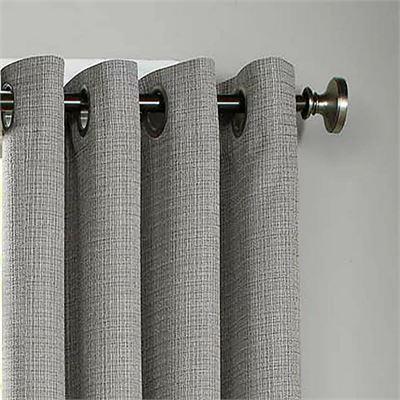 "New Eclipse Palisade 108"" L Grommet Top Room Darkening Window Curtain Panel Grey"