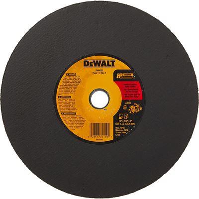 New DEWALT DW8022 12-Inch by 1/8-Inch by 1-Inch A24N Abrasive Metal Cutting Wheel