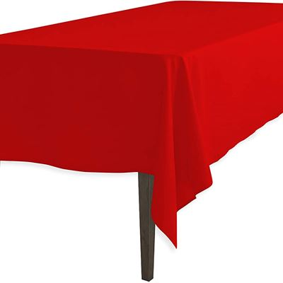 New LinenTablecloth 60 x 102-Inch Rectangular Polyester Tablecloth Red