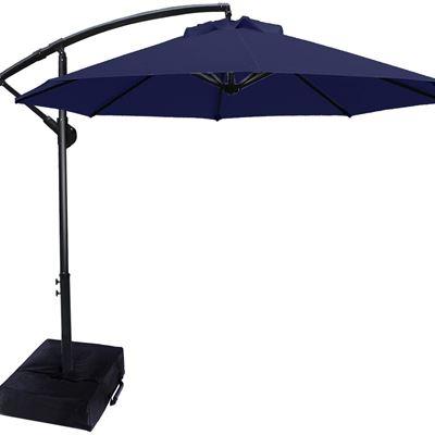New ABCCANOPY 10 FT Patio Umbrellas Cantilever Umbrella Offset Hanging Umbrellas Outdoor Market Umbrella with Crank & Cross Base for Garden