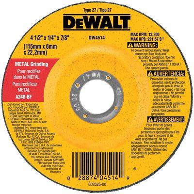 New DEWALT DW4719 7-Inch -by-1/4-Inch -by-7/8-Inch General Purpose Metal Grinding Wheel