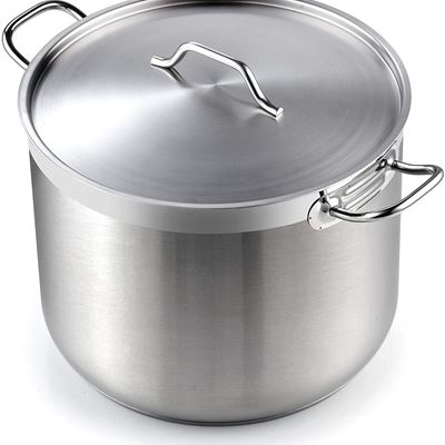 New Cooks Standard 02616 Professional Grade Lid 30 Quart Stainless Steel Stockpot Silver