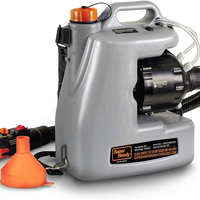 New SuperHandy Fogger Machine Disinfectant Fogger Atomizer Spray Mist Duster ULV Sprayer 3GAL 1-15GPH Mist Blower Extended Commercial Hose Spray Nozzl