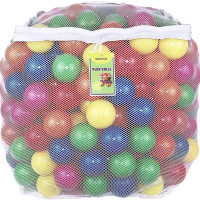 New Click N' Play 0005C Value Pack of 400 Phthalate Free BPA Free Crush Proof Plastic Ball, Pit Balls-6 Bright Colors in Reusable and Durable Storage