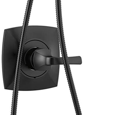 New Delta Vesna 14 Series Single-Handle Shower Trim Kit with 5-Spray H2Okinetic In2ition Dual Hand Held Shower Head with Hose, Matte Black 144789-BL-I