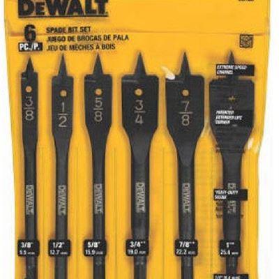 New DEWALT DW1587 6 Bit 3/8-Inch to 1-Inch Spade Drill Bit Assortment