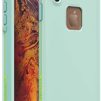 New Lifeproof FR? SERIES Waterproof Case for iPhone Xs Max - Retail Packaging - TIKI (FAIR AQUA/BLUE TINT/LIME)