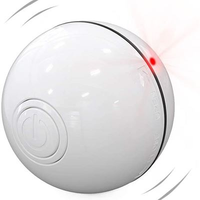 New DELOMO Smart Interactive Cat Toy Ball, Automatic Rolling Ball, USB Rechargeable Cat Light Toy, 360 Degree Self Rotating Ball with LED Light