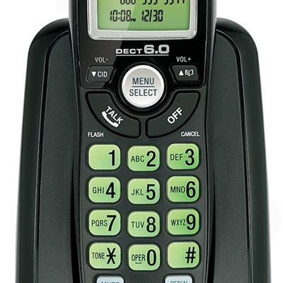 New Vtech Dect 6.0 Single Handset Cordless Phone with Caller ID, Green Backlit Keypad and Display (CS6114-11)