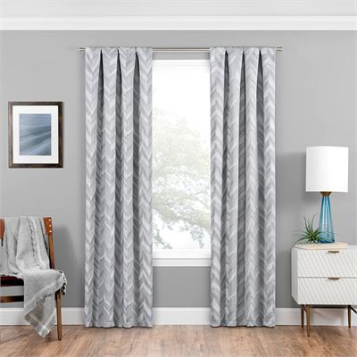 New Eclipse 16429037095SLV Haley Window Panel,Silver,37x95