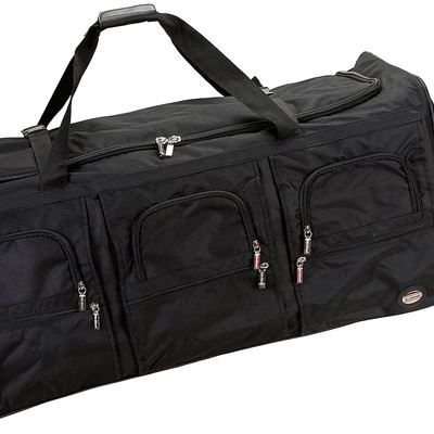 New Rockland Rolling Duffel Bag, Black, 40-Inch