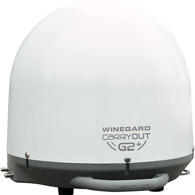 Winegard GM-6000 Carryout G2+ White Automatic Portable Satellite TV Antenna with Power Inserter