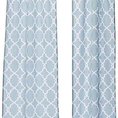 """New PAIRS TO GO Vickery Modern Decorative Rod Pocket Window Curtains for Bedroom or Living Room (Double Panel), 28"""" x 84"""", Spa"""