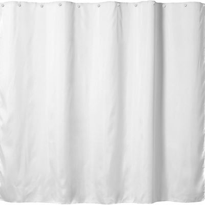 New Hookless Snap-in Fabric Liner for Shower Curtains