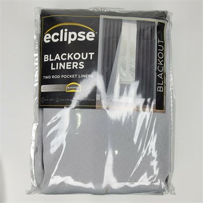 New Eclipse Blackout Liners 2 Rod Pocket Liners Woven Thermoliner Pair White 27x80in