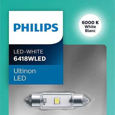 New Philips 6418 Ultinon LED Bulb (White), 1 Pack