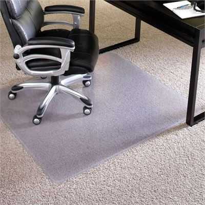 """New ES Robbins 124781 Everlife Carpet ChairMat 60""""x72"""" Clear"""
