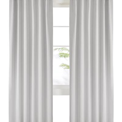 New Deconovo Back Tab and Rod Pocket Curtains Blackout Curtains Thermal Insulated Room Darkening Curtains for Bedroom 52x95 Inch Platinum 2 Panels