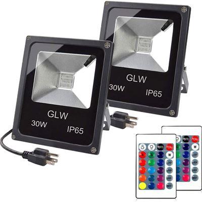 New GLW 30W RGB LED Flood Light Outdoor Landscape Lighting IP65 Waterproof