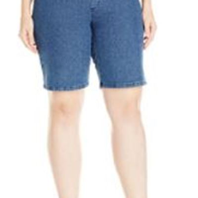 New Chic Classic Collection Women's Plus Size Pull on Stretch Bermuda