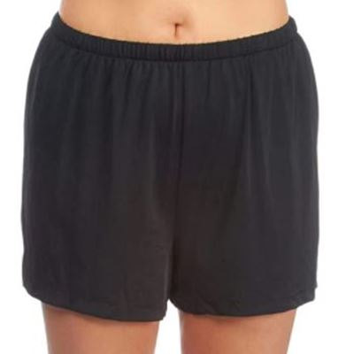 New Maxine Of Hollywood Women's Plus-Size Solid Tricot Swim Shorts