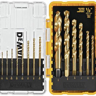 New DEWALT DW1341 14-Piece Titanium Speed Tip Drill Bit Set