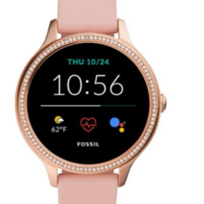 New Fossil Women's Gen 5E 42mm Stainless Steel Touchscreen Smartwatch with Speaker, Heart Rate, Contactless Payments and Smartphone Notifications