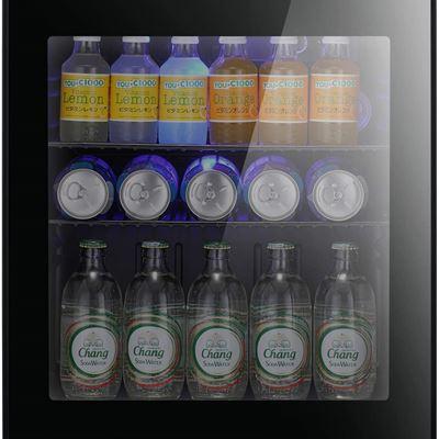 New Antarctic Star Mini Fridge Cooler - 60 Can Beverage Refrigerator Glass Door Small Drink Soda Beer Wine Cooler Dispenser Machine