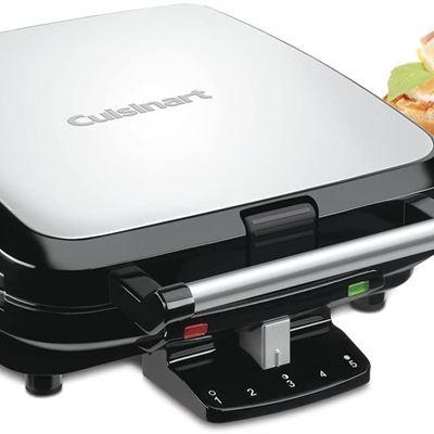 New CUISINART WAF-150 4-Slice Belgian Waffle Maker, Stainless Steel, Silver - WAF-150C