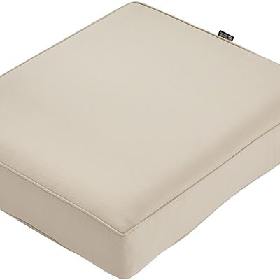 New Classic Accessories Montlake Water-Resistant 25 x 27 x 5 Inch Rectangle Outdoor Seat Cushion, Patio Furniture Chair Cushion