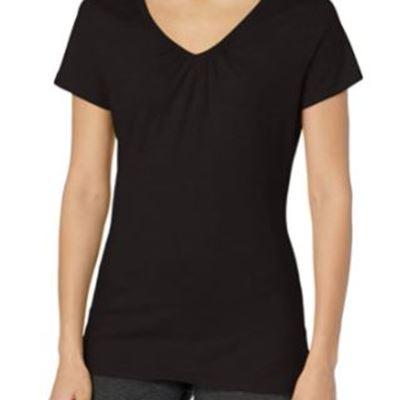 New Hanes Women's Shirred V-Neck T-Shirt