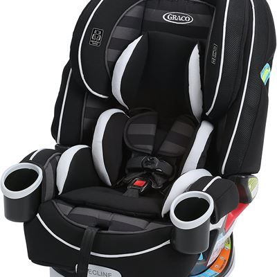 New Graco 4Ever 4-in-1 Car Seat, Rockweave, Convertible from Infant to Toddler (1.8-18 kg), Washable Seat Cover