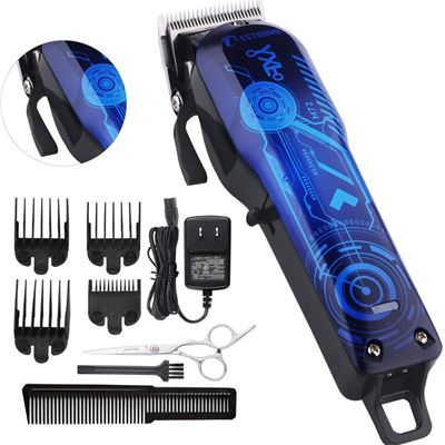 New Professional Cordless Rechargeable Hair Clippers for men Beard Trimmer BESTBOMG Hair Cutting Kit for Kids with Taper Lever