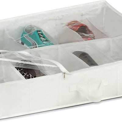 New Honey-Can-Do SFT-01580 Under The Bed White Storage Bag with Zipper and Carrying Handles, 27 by 22 by 5.9-Inch