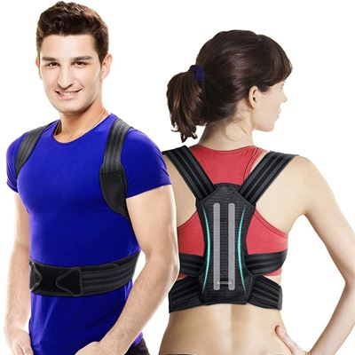 New VOKKA Posture Corrector for Men and Women, Spine and Back Support, Providing Pain Relief for Neck, Back, Shoulders, Adjustable and Breathable Back