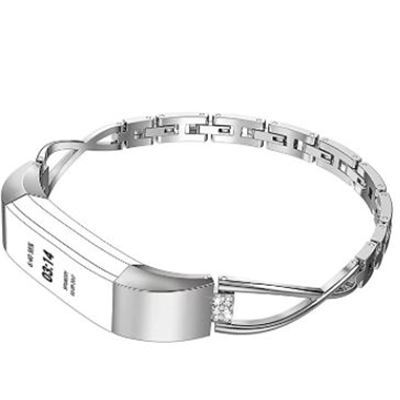 New Replacement Band X Shape Strap Compatible with Fitbit Alta and Fitbit Alta HR, Wrist Band Metal for Fitbit Alta/Fitbit Alta HR(Silver)3