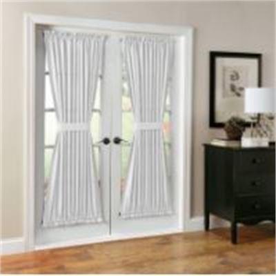 "New No. 918 Montego 48 X 72"" Door Curtain Panel , White, 48x72"