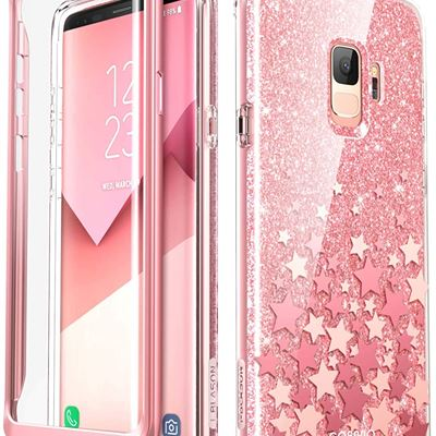 New Samsung Galaxy S9 Case, [Built-in Screen Protector] i-Blason [Cosmo] Full-Body Glitter Sparkle Bumper Protective Case for Galaxy S9