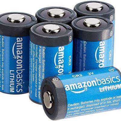 New Amazon Basics Lithium CR2 3 Volt Batteries - Pack of 6