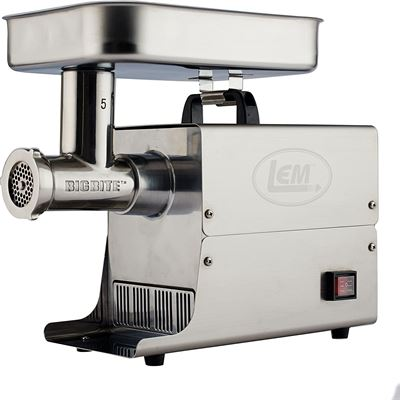 New LEM Products 17771 Big Bite 5 .35HP Stainless Steel Electric Meat Grinder, Silver